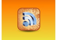 Free vector RSS 3D Icon #4596