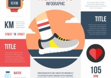 Free vector Running infographic with flat items #5030