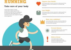 Free vector Running infographic with smiling man #5036