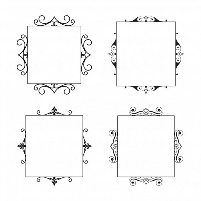 Free vector set of calligraphic frames my graphic