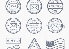 Free vector Set of different kind of post stamps #7909