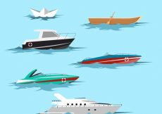 Free vector Set of different types of boats #4577