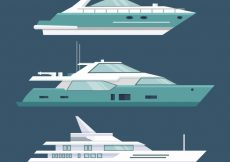 Free vector Set of three modern boats #4525