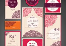 Free vector Set of wedding elements #11187