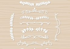 Free vector Set of white wedding ornaments #10577