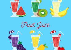 Free vector Several delicious fruit juices #3866