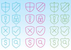 Free vector Shield Icons For Web #5652