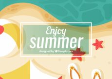 Free vector Shore background in top view #5139