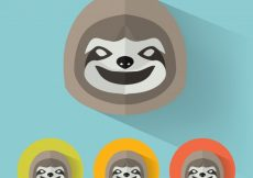 Free vector Sloth flat portrait #11869