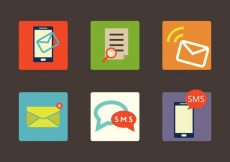 Free vector SMS Vector Icons Set #3971