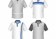 Free vector Striped male polo shirt collection #5165