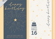 Free vector Stylish greeting cards with stars #11365