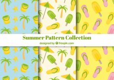 Free vector Summer patterns collection #5653