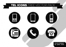Free vector Tel Icons Free Vector Pack #7077