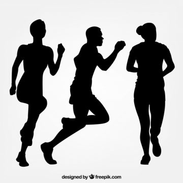 Free vector Three silhouettes of runners #5245