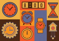 Free vector Time Vector Icons Set #4592