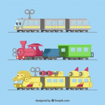 Free vector Toy trains with cranks #4621