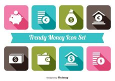 Free vector Trendy Monet Icon Set #4863