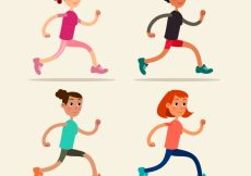Free vector Variety of people running #4985