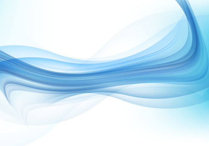 free vector abstract blue wave background  10751