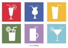 Free vector Assorted Drinks Icon Set #5118