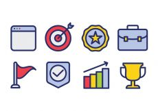 Free vector Business Icon Set #9190