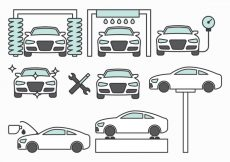 Free vector Car Maintenance Icons #8064