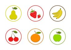 Free vector Vector Fruit Icon Set #8445