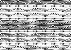 Free vector Hand Drawn Boho Style Pattern Background #10947