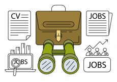 Free vector Linear Job Hunting Icons #9025