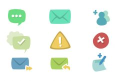 Free vector Message Icon Set #8937
