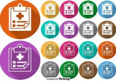 Free vector Vector Set Of Colorful Buttons Of Prescription Pad Icon #10110
