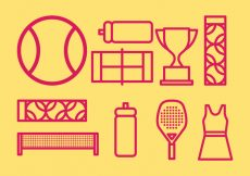 Free vector Tennis icons #9719