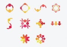 Free vector Working Together Icon Set #3959