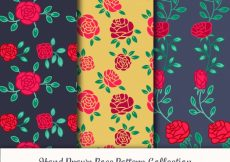 Free vector Vintage patterns of hand drawn roses  #10429
