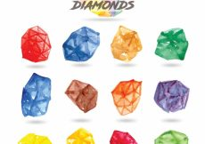 Free vector Watercolor diamond collection #8896