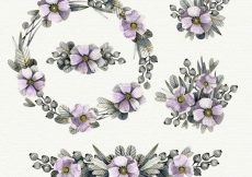 Free vector Watercolor flowers collection #11849