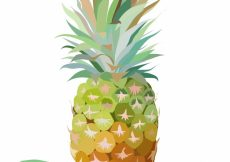 Free vector Watercolor pineapple background #5885
