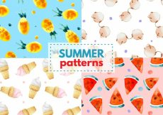 Free vector Watercolor summer patterns #8284
