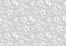 Free vector White flower pattern background #4049