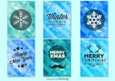 Free vector Winter christmas background templates #11348