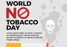 Free vector World no tobacco day background template #5475