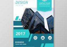 Free vector Abstract business flyer with blue elements #13894