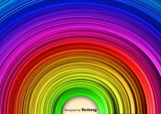 Free vector Abstract Rainbow Vector Background #18500