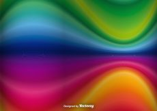 Free vector Abstract Rainbow Waves Vector Background #17216