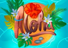 Free vector Aloha water background #17452