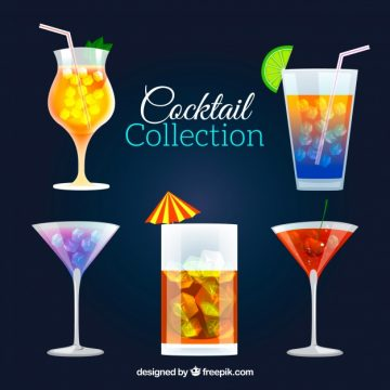 Free vector Assortment of delicious cocktails #18158