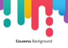 Free vector Background of colorful abstract shapes in flat design #16771