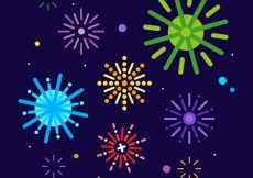 Free vector Background of colorful fireworks #18389