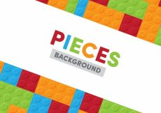 Free vector Background of colorful game pieces in flat design #18214